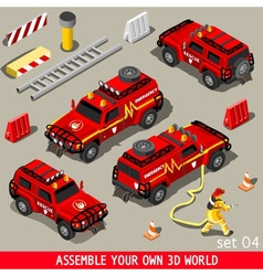 First Aid Vehicle Isometric vector