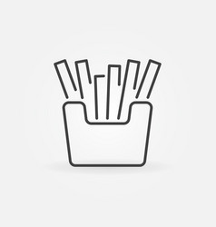 french fries minimal icon fast food vector image