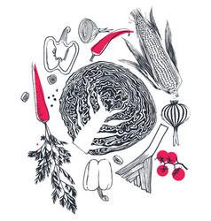 Fresh organic food vector