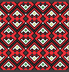 geometric tribal decotarive pattern in red vector image