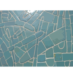 Glazed cyan stone mosaic texture vector image