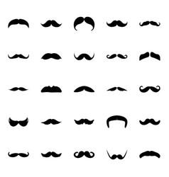 Glyph icon design set mustaches vector