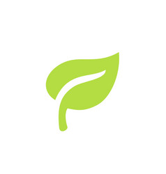 Green leaf plants icon or logo ecology purity vector