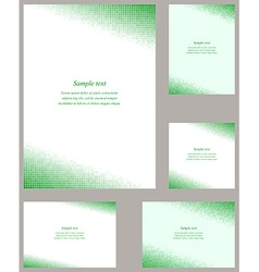 Green square mosaic page corner design templates vector
