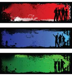 grunge people backgrounds vector image