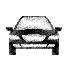 hand drawing car sketch icon design vector image