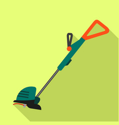 home grass trimmer icon flat style vector image