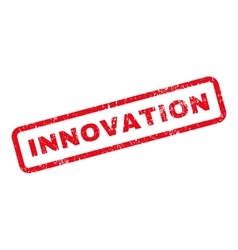 Innovation Text Rubber Stamp vector
