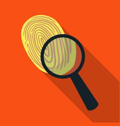 Investigation by fingerprint magnifier crime vector