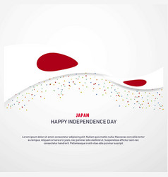 Japan happy independence day background vector