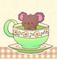 Koala cute little funny kawaii animal pet vector