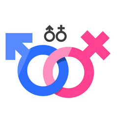 Male and female gender signs vector