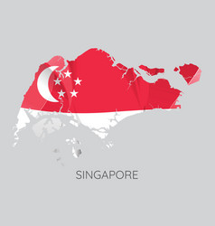Map of singapore vector