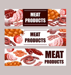 meat products banners vector image