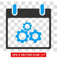 Mechanics Gears Calendar Day Eps Icon vector image