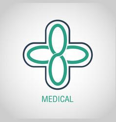 medical logo icon design vector image