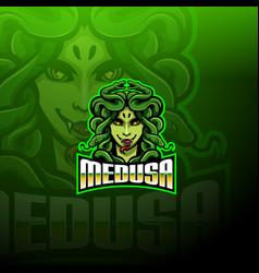Medusa esport mascot logo design vector