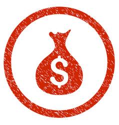 Money sack rounded grainy icon vector