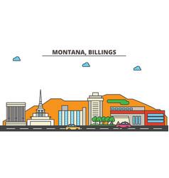 Montana billingscity skyline architecture vector