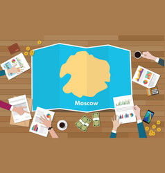 Moscow russia capital city region economy growth vector