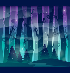 Mysterious forest theme image 1 vector
