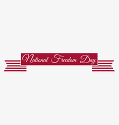 national freedom day 1st of february red ribbon vector image
