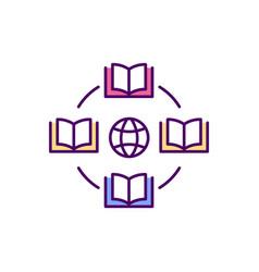 Online library advantages rgb color icon vector