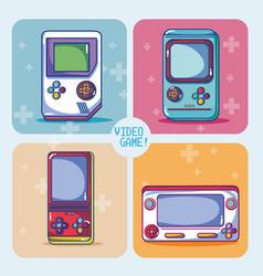 Retro videogame consoles vector
