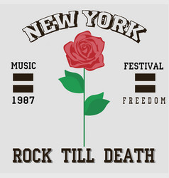 Rock till death vector
