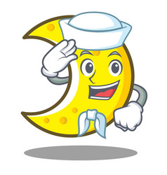 Sailor crescent moon character cartoon vector