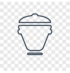 saucepan concept linear icon isolated on vector image