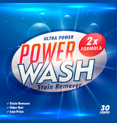 Stain remover laundry detergent product designing vector