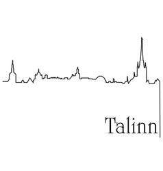 talinn city one line drawing background vector image