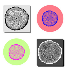 tree rings flat icon vector image