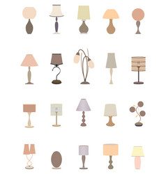 Twenty pastel colors elegant lamps collection for vector