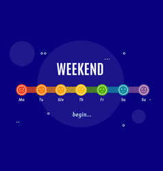 Weekend horizontal time line layout concept vector