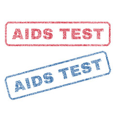 aids test textile stamps vector image vector image
