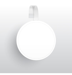 Blank Round Wobbler with Transparent Strip vector image