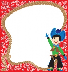 cute cowboy birthday party inv vector image vector image