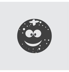 Funny orange icon vector image vector image