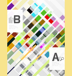 geometrical abstract background with infographics vector image