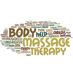 massage therapy beyond touch text background word vector image