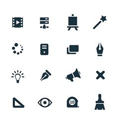 art design icons set vector image