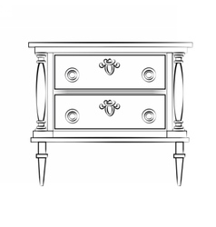 Classic furniture with royal luxury ornaments vector