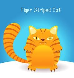 cute tiger stripes cat vector image