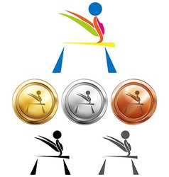 Different medals for balance bar vector image vector image