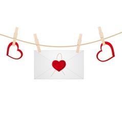 hearts clothespins 11 vector image
