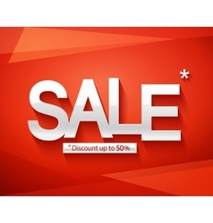 Sale banner template Discount up to 50 vector image