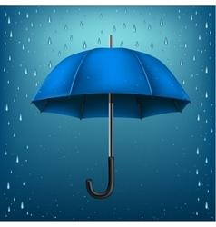 Umbrella rain blue background vector