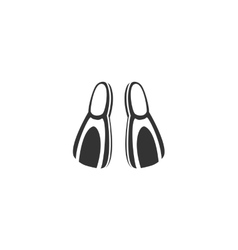 Flippers icon isolated on a white background vector image vector image